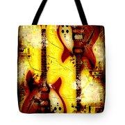 Abstract Grunge Guitars Tote Bag