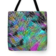Abstract In Chalk Tote Bag