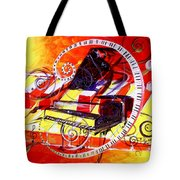 Abstract Jazzy Piano Tote Bag