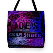 Abstract Joe's Crabshack Sign Tote Bag