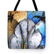 Abstract Martini Tropical Contemporary Original Painting Martini On The Beach By Madart Tote Bag