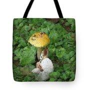 Abstract Mushrooms Tote Bag