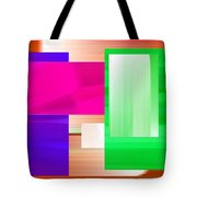 Abstract Number Three Tote Bag