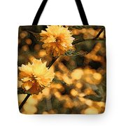Abstract Of Yellow Flowers Tote Bag