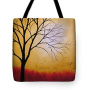 Abstract Original Tree Painting Summers Anticipation By Amy Giacomelli Tote Bag