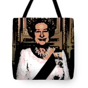 Abstract Portrait Of A Queen Tote Bag