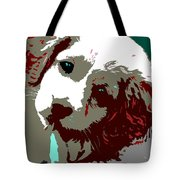 Abstract Pup Tote Bag