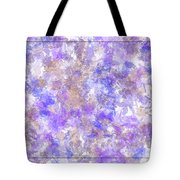 Abstract Purple Splatters Tote Bag