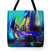Abstract Regatta Tote Bag