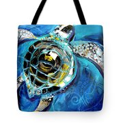Abstract Sea Turtle In C Minor Tote Bag