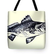 Abstract Speckled Trout Tote Bag by J Vincent Scarpace