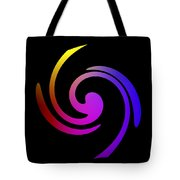 Abstract Spiral Color Tote Bag