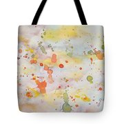 Abstract Summer Sky Watercolor Painting Tote Bag