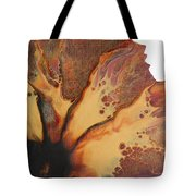 Abstract Sunflower Aceo Tote Bag