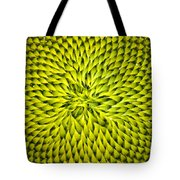 Abstract Sunflower Pattern Tote Bag