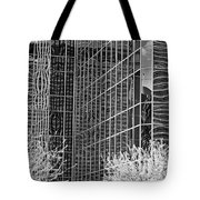 Abstract Walls Black And White Tote Bag