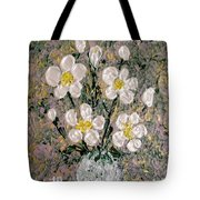 Abstract Wild Roses Heavy Impasto Tote Bag