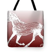 Abstract Wild Running Horse  Tote Bag