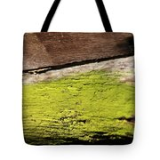 Abstract With Green Tote Bag