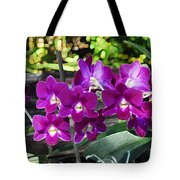 Accented Purple Orchid  Tote Bag