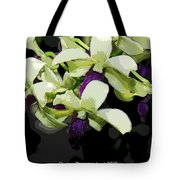Accented Purple Poster Orchid Fx  Tote Bag