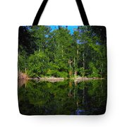 Across The Lake Tote Bag