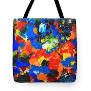 Acrylic Abstract Upon Wood Tote Bag