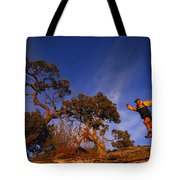 Adam Lederer Trail-runs Near Dolores Tote Bag