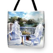 Adirondack Chairs Too Tote Bag