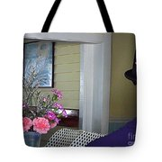 Admiring The Southernmost Flowers Tote Bag