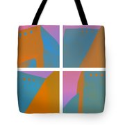 Adobe Walls Four-up Tote Bag by Carol Leigh