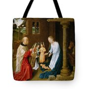 Adoration Of The Christ Child  Tote Bag