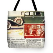Ads: Buick, 1932 Tote Bag