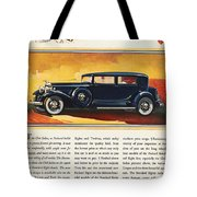 Ads: Packard, 1932 Tote Bag