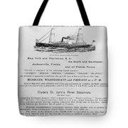 Advertisement: Steamship Tote Bag