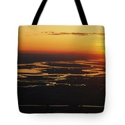 Aerial Sunset Of The Suisun Slough Tote Bag