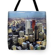 Aerial View From Cn Tower Toronto Ontario Canada Tote Bag