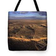 Aerial View Of Chaco Canyon And Ruins Tote Bag