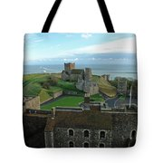 Aerial View Of Dover Castle Tote Bag