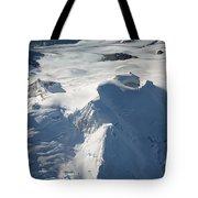 Aerial View Of Glaciated Mount Douglas Tote Bag