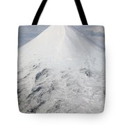 Aerial View Of Glaciated Shishaldin Tote Bag by Richard Roscoe