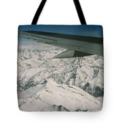 Aerial View Of Himalaya From Plane En Tote Bag