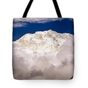 Aerial View Of Mountains, Annapurna Tote Bag