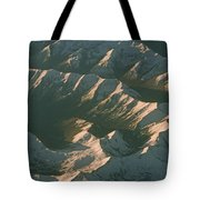 Aerial View Of Snowcapped Mountain Tote Bag