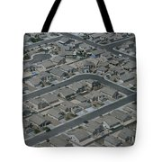 Aerial View Of Suburban Tote Bag