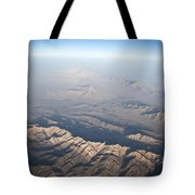Aerial View Of The Mountainous Tote Bag