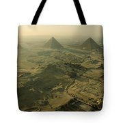 Aerial View Of The Pyramids Of Giza Tote Bag