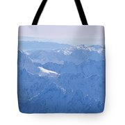 Aerial View Of The Snow-covered Julian Tote Bag