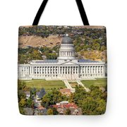 Aerial View Of Utah State Capitol Building Tote Bag by Gary Whitton