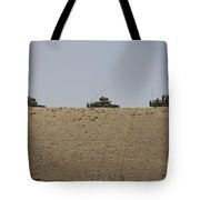 Afghan Army Convoy Drives Tote Bag
